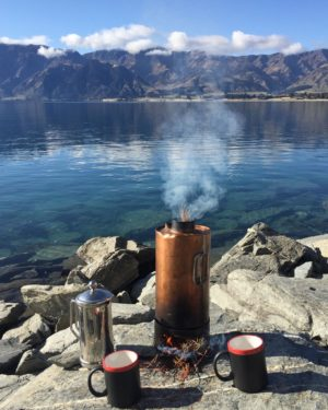 A refreshing cuppa lakeside in the South Island